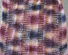 Loom Knitting: Piqué Stitch