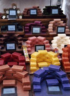 Cute arrangement of soaps