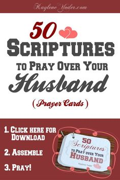 The BEST set of scripture prayer cards for a wife to pray over her husband!