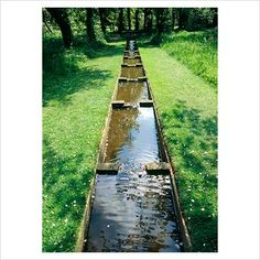 The Orchards with water rill - Coton Manor - Image No: 0209950 - GAP Gardens, garden and plant stock photography Landscape Architecture, Landscape Design, Garden Design, Moon Garden, Water Garden, Garden Pots, Drainage Ditch, Goldfish Pond, Building A Pond