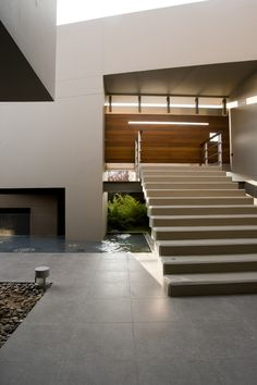 *modern architecture, entrances, stairs, pools* - Private Residence by Faris & Faris Architects