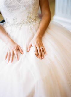 A dress fit for a beautiful bride: http://www.stylemepretty.com/little-black-book-blog/2014/11/20/modern-illinois-backyard-wedding/ | Photography: Louie Abellera - http://louieaweddings.com/
