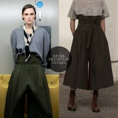 "c51839bff8a Keira Knightley Closet on Instagram: ""Keira I'm @theststyle Dec. 2018.  She's wearing @neheraofficial culotte trousers from Spring 2019 and  @jw_anderson ..."