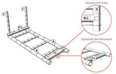 How to Make a Bamboo Bed — Guadua Bamboo Dump Furniture, Bamboo Furniture, Mirrored Furniture, Modular Furniture, Street Furniture, Bed Frame Rails, Bamboo Bed Frame, Inexpensive Furniture, Cheap Furniture