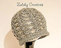 Crochet Baby Hat, Baby Girl Hat, Newborn Beanie, Baby Newborn Hat, Beanie, Grey, Baby Girl, Newborn Baby Hat - Item # CBH0001G