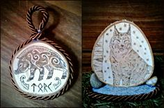 Torc celtic Boar and European Lynx Woodburnings by VoceDelBosco on DeviantArt