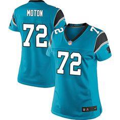 Women's Nike Carolina Panthers #72 Taylor Moton Limited Blue Alternate NFL Jersey