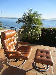 Details About Danish Modern Leather Rosewood Recliner Lounge Chair Ottoman Ekornes Stouby Places To See Pinterest And Sofa