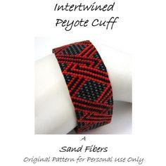 Peyote Pattern Intertwined Peyote Cuff / Peyote by SandFibers, $7.50