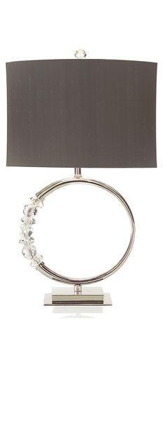 InStyle-Decor.com Silver Faux Diamonds Eternity Ring Lamp, Luxury Wedding Gifts…