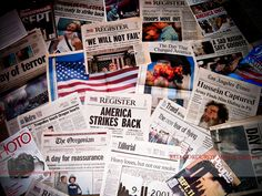 9/11 newspapers and magazines