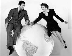 "James Stewart and Claudette Colbert in ""It's a Wonderful World"" 1939"
