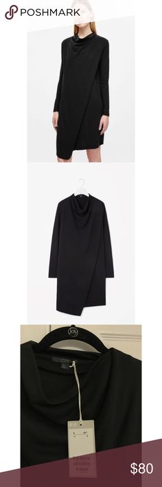 NWT Cos black long sleeve dress Cos black log sleeve dress. Super cool looking. Brand new, never worn, with tag. Cos Dresses