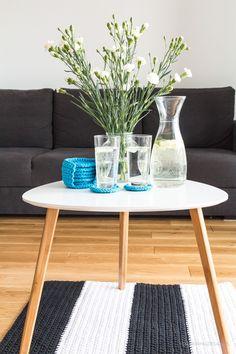 Szydełkowe podkładki pod kubki, szara kanapa / Crochet coasters, handmade, Home sweet home with a grey cauch