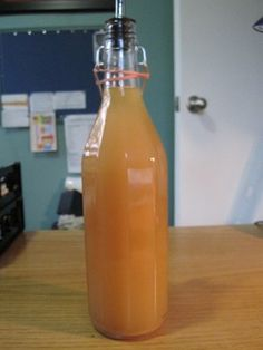 Homemade champagne vinegar