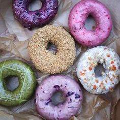 Donuts from the Doughnut Plant, New York City.