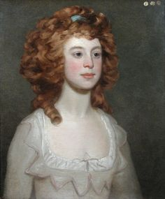 """Portrait of a Young Woman"" (1780) by Philip Reinagle"
