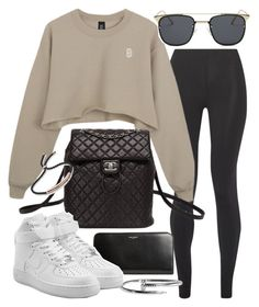 """""""Untitled #20252"""" by florencia95 ❤ liked on Polyvore featuring Live The Process, Yves Saint Laurent, Chanel, NIKE and Monica Vinader"""
