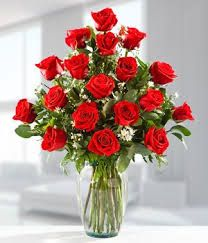 Hermoso ramo de rosas rojas