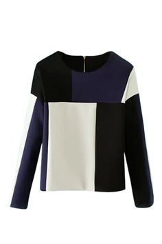 Color Block Slim Sweatshirt 30.00