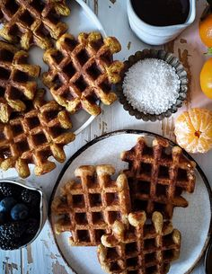 Liege waffles, the best dessert waffle are now gluten free! #liegewaffles #waffles #glutenfree #belgianwaffles #keto Savory Donuts Recipe, Donut Recipes, Almond Recipes, Fun Desserts, Delicious Desserts, Dessert Recipes, Yummy Food, Gluten Free Baking, Gluten Free Recipes