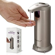 Buy The Original Hayden Autosoap - Premium Automatic Touchless Soap Dispenser - Fingerprint Resistant Brushed Stainless Steel - Hand Sanitiser compatible - (NEW Waterproof Base!) - Reviewhomkit.com ✓ FREE DELIVERY possible on eligible purchases