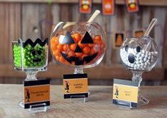 Recipientes para caramelos Halloween