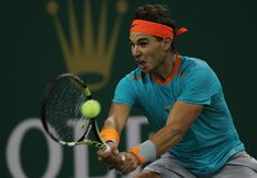 Rafael Nadal of Spain returns a shot during his match against Feliciano Lopez of Spain during the day 4 of the Shanghai Rolex Masters at the Qi Zhong Tennis Center on October 8, 2014 in Shanghai, China.