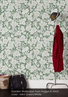 Garden wallpaper from Hygge