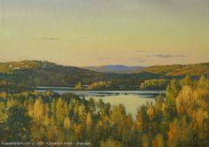 Early Morning Norway Kristiansand oil canvas Painter: Ovsianikov Anton