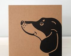 Sausage dog card – Etsy UK