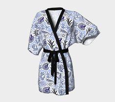 Blue Seashells Kimono