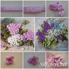How-to-Make-Bordado-fita-Lilás-Flores