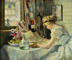 Charles SIMS Reading Art, English Artists, Victorian Women, Sculptures, Fine Art, Portrait, Drawings, Illustration, Sims