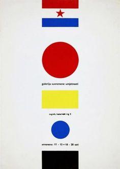 Plakat Ivana Picelja za zagrebačku Galeriju suvremene umjetnosti, 1961.