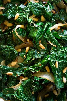 Fresh lemon juice adds zing to sautéed kale. Double-click for Michael Pollan's Kale with Onions and Pine Nuts Recipe