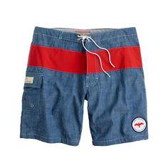 Apolis® chambray swim trunks