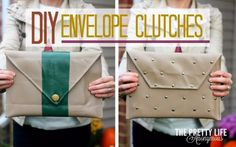 The Envelope Clutch - 22 Brilliant DIY Fashion Projects for Unique Clothes and Accessories