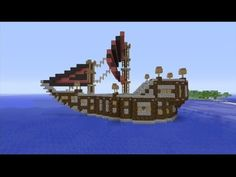 How to build a Medieval Ship in Minecraft ( HD ) - YouTube