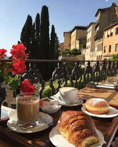 Coffee with a view. Caffè Poliziano. Montepulciano, Tuscany