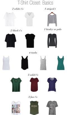 T-Shirt Closet Basics