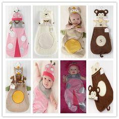 Vendita al dettaglio-animale del fumetto modellazione fai da te costume del bambino/beetle gufo scimmia orso forma bambino sacco a pelo/smontato sacco a pelo
