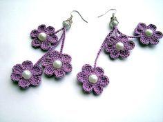 Knitting Earrings Models - 67 Must Knit Earrings - Mesh earring patterns - Bracelet Crochet, Crochet Earrings Pattern, Crochet Diy, Bead Crochet, Crochet Designs, Crochet Patterns, Diy Bracelets Patterns, Textile Jewelry, Crochet Jewellery
