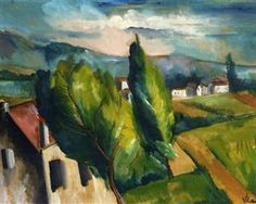 View of a Village with Red Roofs - Maurice de Vlaminck