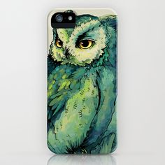 Green Owl iPhone & iPod Case by Teagan White - $35.00