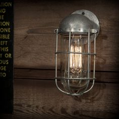 Vintage Industrial Explosion Proof Wall Lamp Steampunk Decor Veco Pendant Sconce. $165.00, via Etsy.
