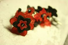 Red and black bag charm £10.00