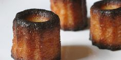 Canelés: bake mini caneles from 15 mins 40 mins I tried for and and the bottoms burnt. Dessert Drinks, Dessert Recipes, French Pastries, Four, Let Them Eat Cake, Pavlova, Chocolate Recipes, Just Desserts, Baked Goods