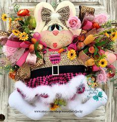 Bunny Wreath, Bunny Decor, Easter Wreath, Front Door Decor, Easter Decor, Spring Wreath, XL Easter Whimsical Wreath, Holiday Wreath, Elegant by WreathsbyJacky on Etsy Snowman Wreath, Diy Wreath, Valentine Wreath, Valentine Decorations, Easter Wreaths, Holiday Wreaths, Easter Decor, Easter Ideas, Wreaths For Sale