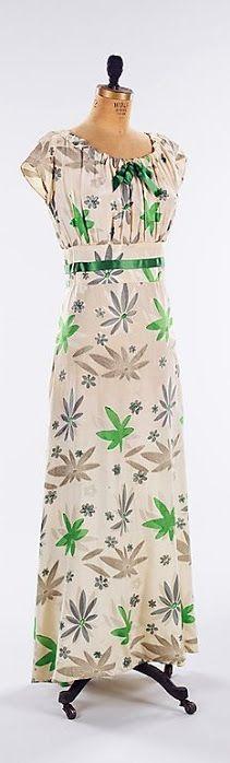Hawes 'Serena Blandish' Dress - 1933 - by Elizabeth Hawes (American, 1903-1971) - Silk, metal - @~ Mlle